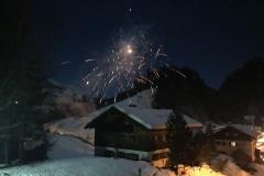 Feuerwerk vom Südbalkon